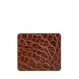Maxwell Scott Luxury Italian Leather Mens Faux Crocodile Card Holder - Choc by Maxwell Scott Bags (Image #7)