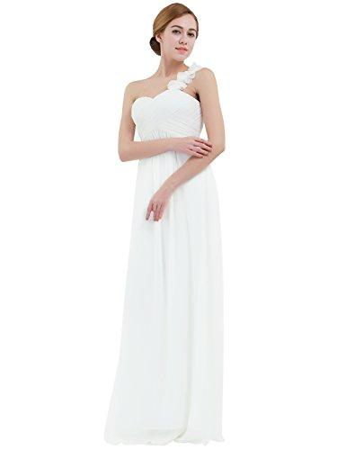 iEFiEL Vestido Largo para Mujer Dama de Honor Chica Vestido de Fiesta Cóctel Espalda al Aire Marfil
