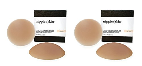 Nippies Skin Nipplecovers | Sticky Bra Pasties Nipple Covers Adhesive Caramel ()