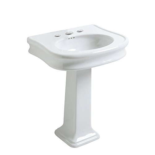China series large single bowl widespread hole drill bath sink  with - Inch 34 Sink Bathroom Console