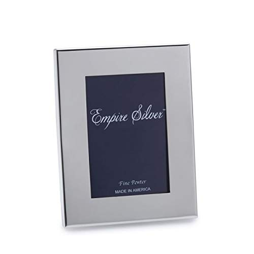 Empire Silver Wide Border Pewter Picture Frame, 4-3/4 Inch by -