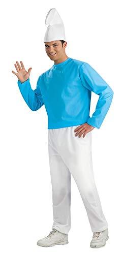 Adult Smurf Costume, Blue/White, X-Large ()