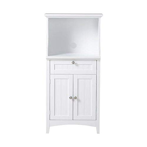 Highland Dunes 2 Door Manufactured Wood Microwave and Coffee Maker Kitchen Island with Drawer, Bright White + Free Basic Design Concepts Expert Guide from Highland Dunes