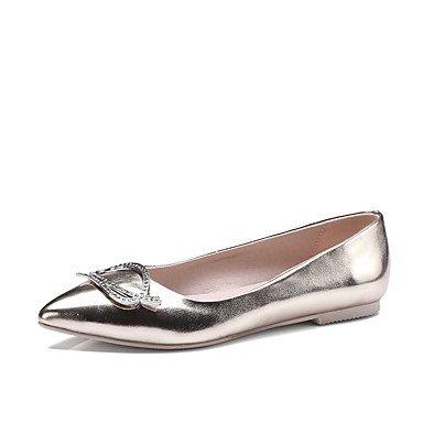 Cómodo y elegante soporte de zapatos de las mujeres pisos primavera verano otros comodidad piel sintética boda oficina y carrera vestido soporte de talón rhinestone rosa plateado oro Otros rosa