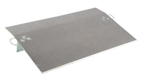 Vestil E-6036 Aluminum Economizer Dockplate, 4100 lbs Capacity, 36'' Length, 60'' Usable Width, 5'' Height Difference, 3/8'' Plate Thickness by Vestil
