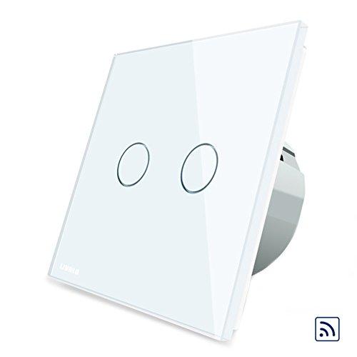 JINHUGU weiße Glasscheibenfernbedienung und Berührungsschalter EU-Standard VL-C702R-11 LED-Licht