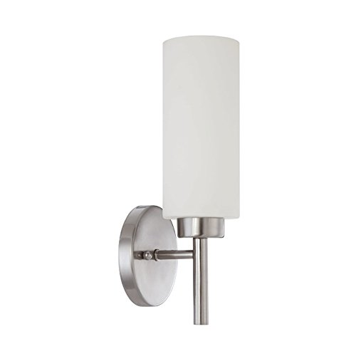 Luminance Contemporary F2801-80 1 Incandescent Rossington One Light Wall Sconce in Bright Satin Nickel Finish