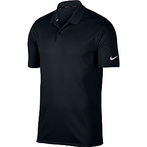 NIKE Men's Dry Victory Solid Polo Golf Shirt, Black/Cool Grey, Medium