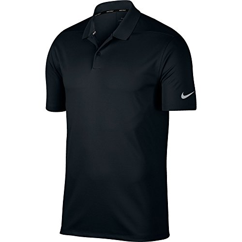ry Solid Polo Golf Shirt, Black/Cool Grey, Large ()