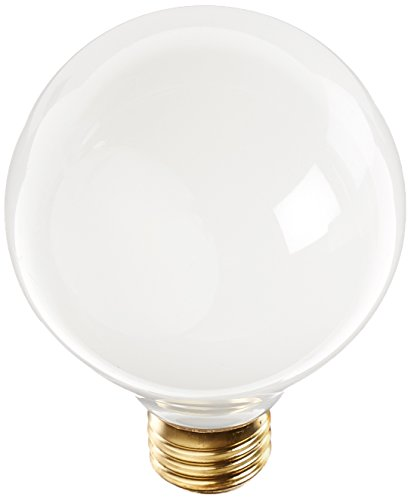 Long Life Standard Screw Base (Bulbrite 25G25WH2 25W G25 Globe 120V Medium Base Light Bulb, White)