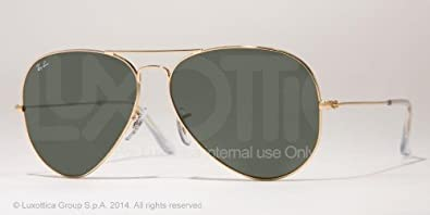 dbbbda24d1 Image Unavailable. Image not available for. Color  Ray-ban Aviator Tm Large  Metal Rb3025 Sunglasses 001 Arista Crystal Green 55 14 135