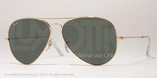 Ray-ban Aviator Tm Large Metal Rb3025 عینک آفتابی 001 Arista Crystal Green 55 14 135