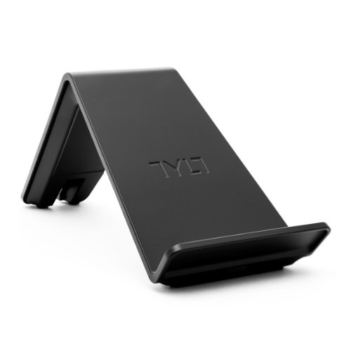 TYLT VU Qi Wireless Phone Charging Pad: 3 Coil Stand & Fast Battery Charger Station for Compatible iPhone Galaxy Note Lumia Droid DNA LG Google & Android Cell Phones (Black) by TYLT
