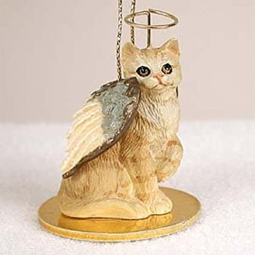 cat red ginger tabby short hair miniature angel christmas ornament new resin cta04 by eyedeal figurines - Christmas Angel Figurines