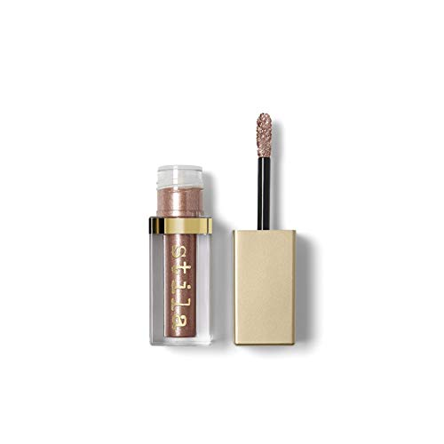 stila Magnificent Metals Glitter & Glow Liquid Eye Shadow, Rose Gold Retro (Rose Gold with Silver Sparkle) ()