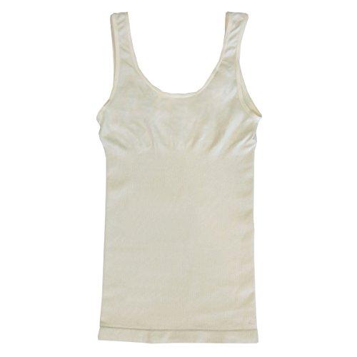 Coobie Seamless Cotton Shaper Camisole, Ivory ()