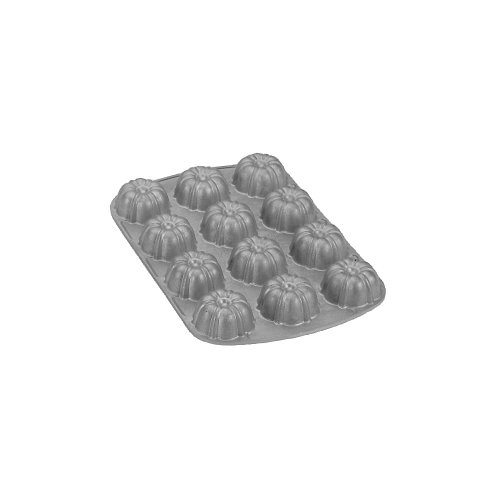 Nordic Ware Commercial Bundt Brownie/Cupcake Pan with Premium Non-Stick Coating, 12-Cavity