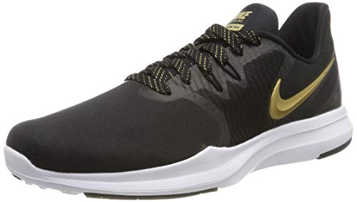 Nike Women's in-Season TR 8 Training Shoe Black/Met Element Gold Size 7 M US