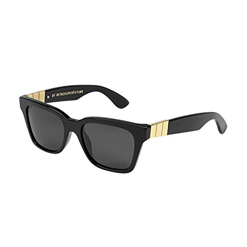 RETROSUPERFUTURE Sunglasses America Gianni S1W Black / Gold with Green Zeiss - Super Sunglasses America
