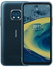 Nokia XR20 - 6,67″ Full HD+ scherm, 48MP dubbele camera met ZEISS-optica, 15 W draadloos en 18 W snel opladen, RAM 4GB /ROM 64GB, voor gebruik met natte handen en handschoenen - Ultra Blue