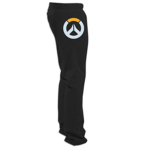 Overwatch Men's Logo Classic Tour Sweatpants Mens Leisure Wear Black L