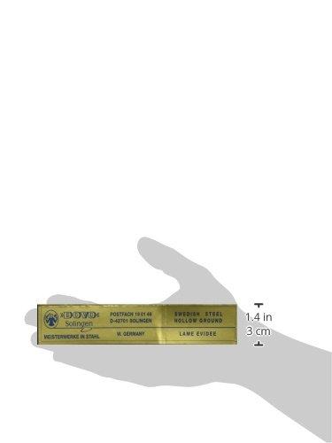 DOVO STRAIGHT RAZOR EBONY HANDLE Gold Etched Blade NEW by Dovo