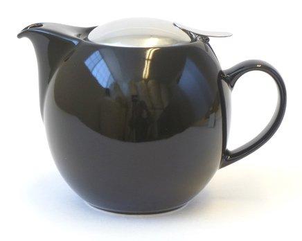 Bee House 26oz Round Ceramic Teapot (Black)