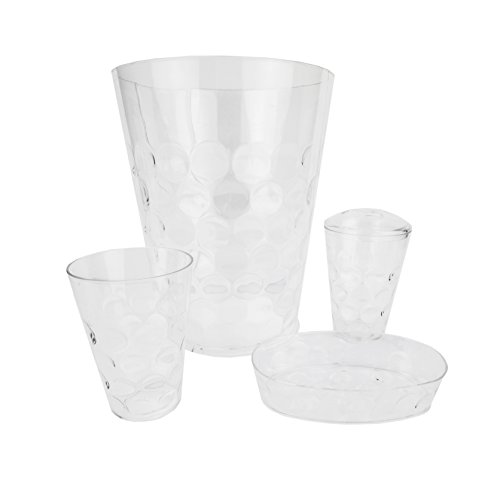 Home Basics ACCESORY Clear BU 4PC Bath Set,