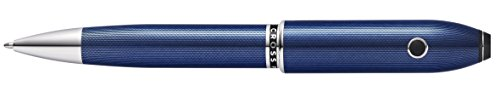 Cross Peerless TrackR Quartz Blue Ballpoint Pen with Chrome Appointments (AT0702-12/TKR)