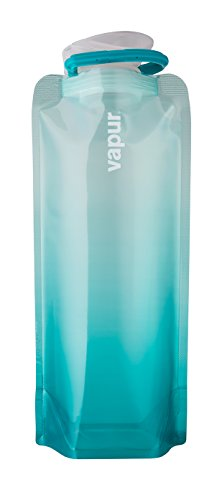 Vapur - Gradient 0.7L BPA Free Foldable Flexible Water Bottle w/Carabiner (Malibu Teal)