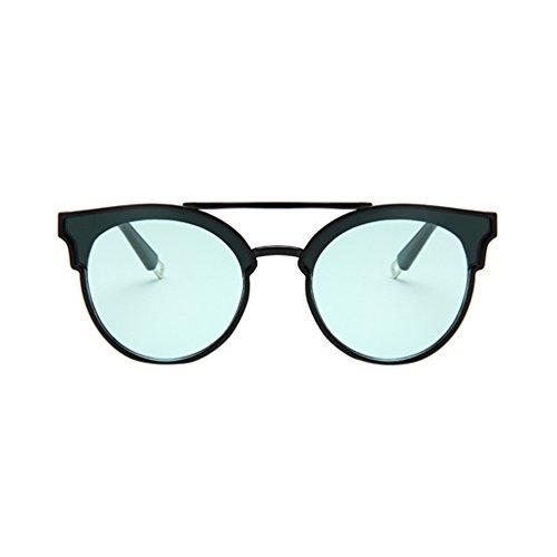 Hombres Verde LINNUO Sol de Mujer Unisex Sunglasses Grandes Retro Gafas Marco Oversized Negro Eyewear UUPvx