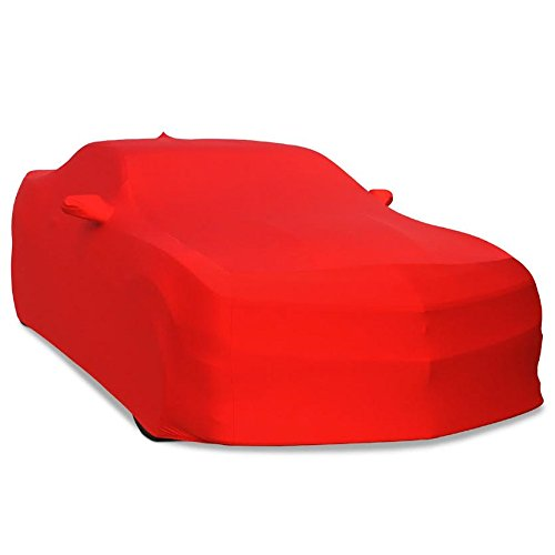 2010-2019 Camaro Ultraguard Stretch Satin Indoor Car Cover (Red) (Best Car Cover For Indoor Storage)