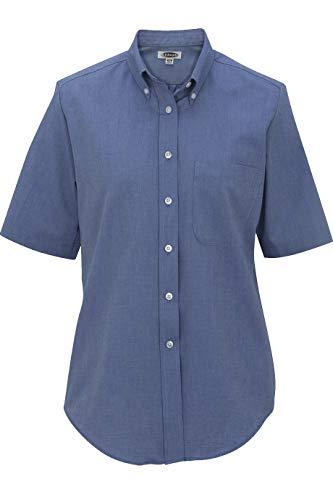Edwards Ladies' Short Sleeve Oxford Shirt Large French Blue ()