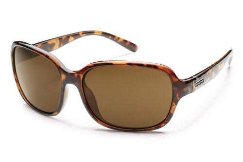 Suncloud Sequin Polarized Sunglasses, Tortoise Frame, Brown Lens