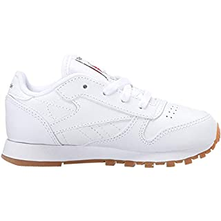 Reebok Boys' Classic Leather Sneaker, White/Gum, 11.5 M US Little Kid