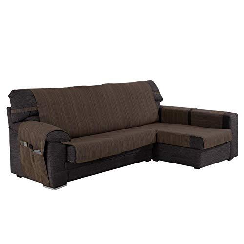Funda Cubre Chaise Longue Modelo Darsena, Color Chocolate, Medida Brazo Derecho – 280cm (Mirándolo de Frente)
