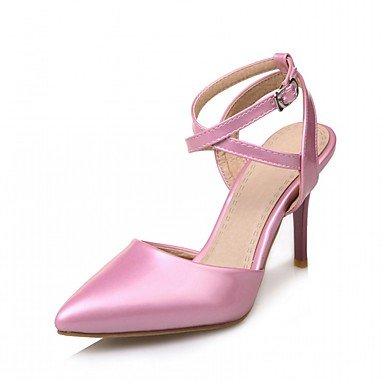 RUGAI-UE Moda de Verano Mujer sandalias casuales zapatos de tacones PU Confort caminar al aire libre,Purple,US5.5 / UE36 / UK3.5 / CN35 Blushing Pink