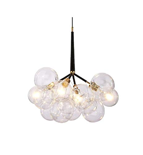 (Modern 3 Lights with 9 Bubble Glass Chandelier Lighting Suspension Light Ceiling Light Pendant Lamp for Stairs Living Room Foyer Entryway Meeting Room)