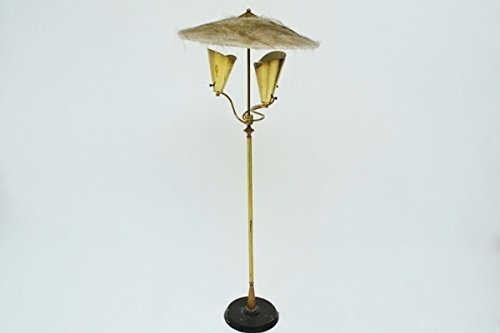 Lampada da terra americana made in usa anni ottone in ottone e