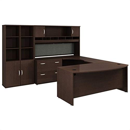 Bush Business Series C Mocha Cherry Executive U-Shaped Desk
