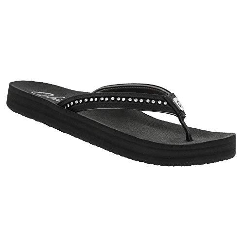 Cobian Cartier 2 Skinny Bounce Women's Flip Flop Sandal - Black