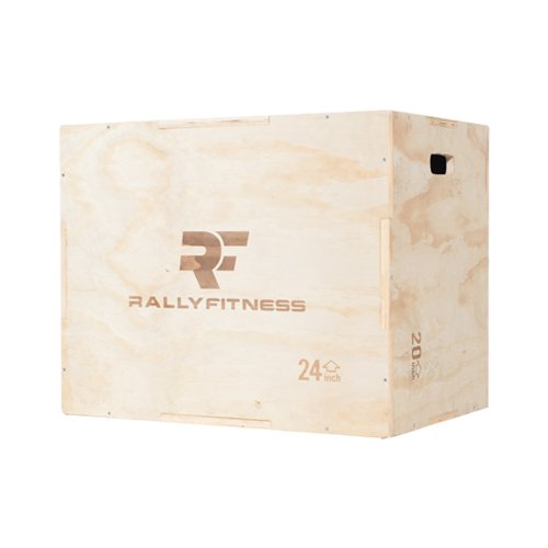 Rally Fitness 3 in 1 Wood Plyometric Box (Adjusts to 20'', 24'' & 30'') by Rally Fitness