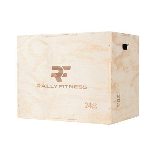 "Rally Fitness 3 in 1 Wood Plyometric Box (Adjusts to 20"",..."