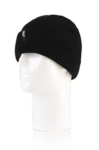 Heat Holders Men's Roll Up Toque, Black by Heat Holders