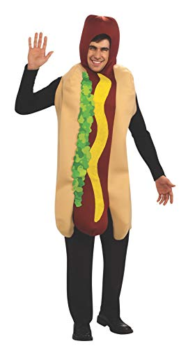 Rubie's Hot Dog Adult Humor Costume, Red, -
