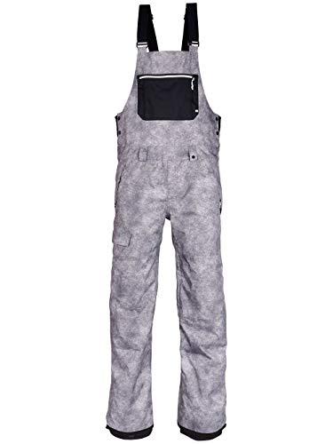 - 686 Hot Lap Insulated Bib Snowboard Pants Charcoal Wash Mens Sz S