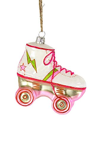 ro Roller Skate Glass Hanging Ornament (Pink) ()