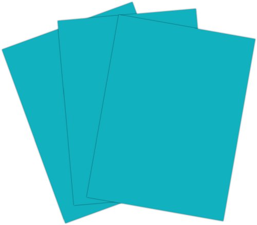 Roselle  Vibrant Construction Paper, 50 count, 9 x12 Inches, Blue Green/Turquoise (CON2691250)