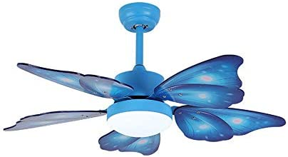 KWOKING Lighting Creative Butterfly Wing Ceiling Light and Fan
