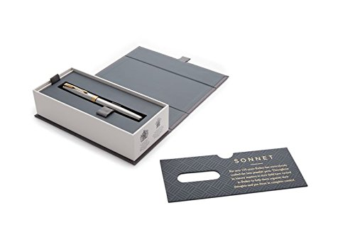 PARKER Sonnet Fountain Pen, Stainless Steel with Gold Trim, Medium Nib (1931505) by Parker (Image #6)